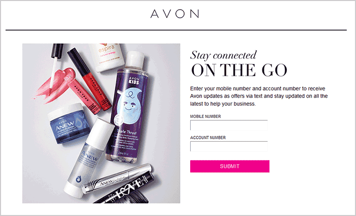 Avon Notifications Get Notified by Text