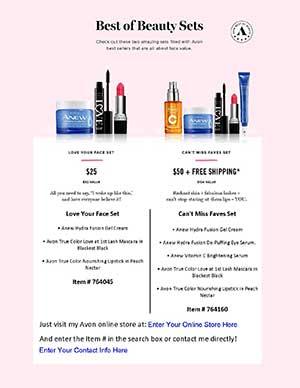 Avon Best Of Beauty Flyer