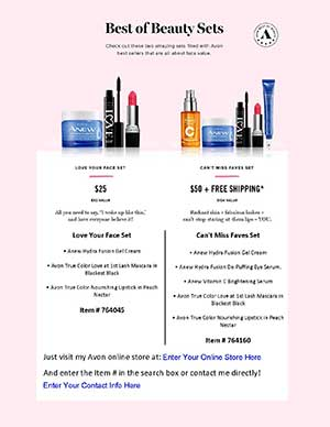 Avon Best Of Beauty Flyer