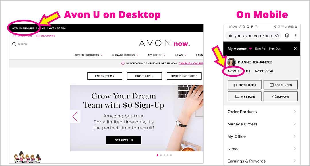 How To Access Avon U